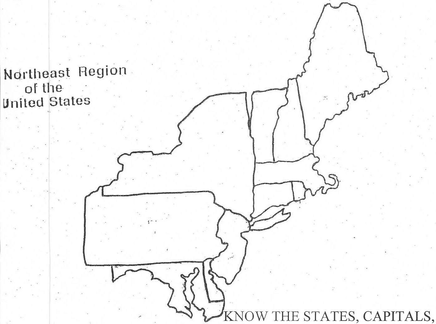 Northeast Us Map Blank us northeast region map blank northeast20blank – Southwest 4th Grade